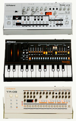 Roland Boutique TR-09, TB-03 and VP-03