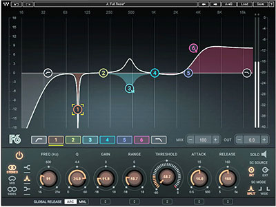 Waves Audio F6 Floating Band Dynamic Eq