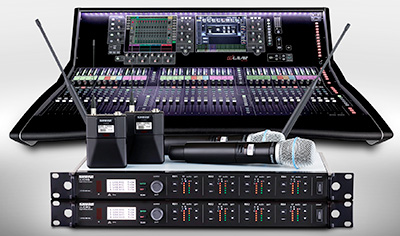 Allen & Heath S7000 surface with Shure wireless systems