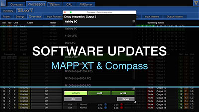 Meyer Sound Mapp XT/Compass software updates