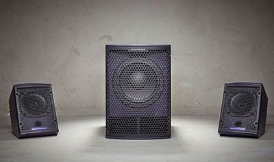 Funktion-One F5 and SB8 subwoofer