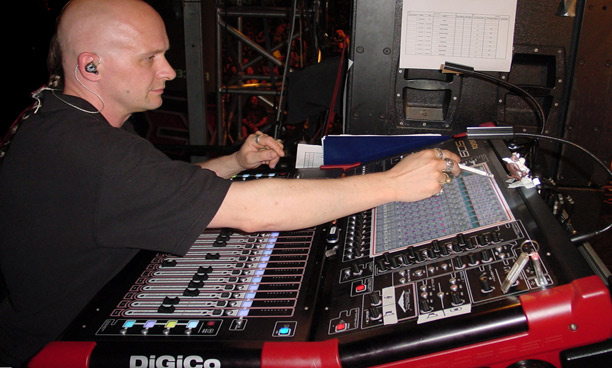 Monitor engineer Achim Lanzendorf