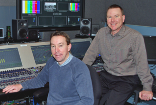 Grant Roberts, Senior Audio Operator CTV Specialty, and Bob Miles, Manager of Olympics