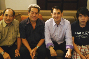 Sebastian Song, Mr Agung, Anil Suhood and Christian Kartiko