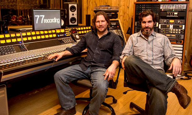 77 Recording owner, Brett Mulzer, with Jimmy Dulin
