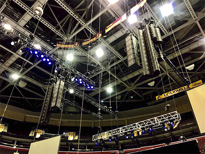 EAW Adaptive rig for Scott Cares event at the Key Bank Arena