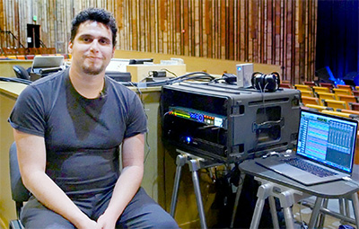 KRCB Audio Producer Anthony Garcia with BlueBox BBWR24B