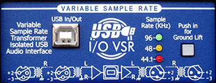 USB I/O VSR Broadcast Standard USB Audio Interface
