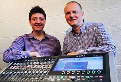 Jim Green (Calrec International Sales Manager) and Martin Warr (Synthax Audio UK MD)
