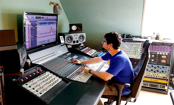 Audient mixing at Jolokia