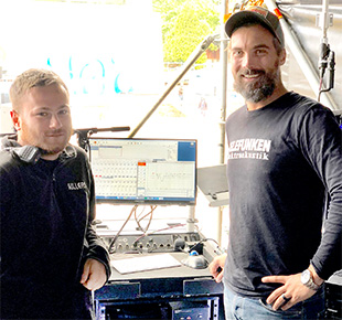 Daniel Fathers and Kenny Kaiser, Killers' system and FOH engineers