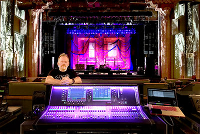 FOH engineer Steve Pattison
