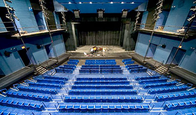 PepsiCo Theatre at Purchase College's Performing Arts Center, now home to an L-Acoustics ARCS WiFo loudspeaker system