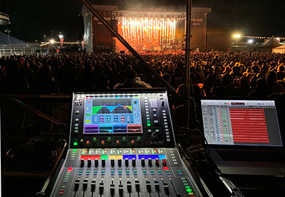 A&H dLive C1500 at FOH for Beartooth