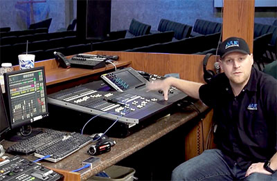 Brandon Rinas, head of Vue audiotechnik Sales Development Manager for House of Worship Systems