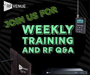 RF Venue announces weekly online training sessions