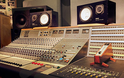 The Pool's vintage Neve 5315 console