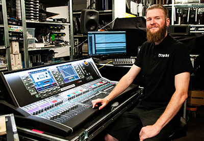 QTech head of sound, Jesper Sirenius