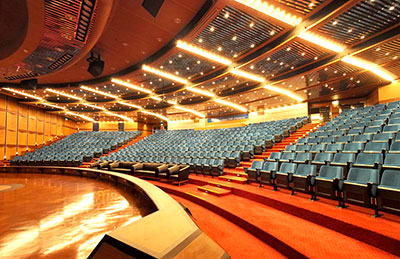 The live auditorium at the Bangkok HQ of the TMB
