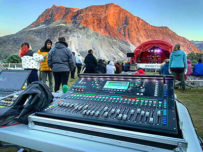 A&H SQ-6 console at world's most remote festival