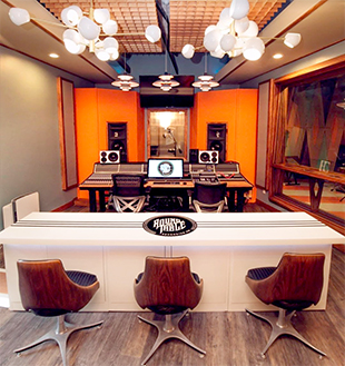 Audient ASP8024 Heritage Edition mixing console at the centre of Studio A
