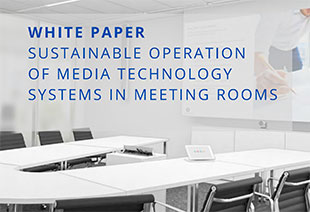 Guide Systems White Paper on how to reduce energy consumption in business A/V settings.