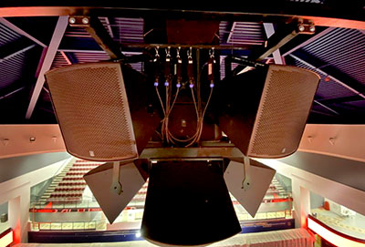 Fulcrum Acoustic FH15 Horns cluster at UPMC Cooper Field House