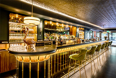 Watson's Bar in Hotel Rival in Stockholm, Sweden, featuring a Genelec 4000 Series sound system