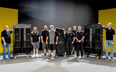 ESI Productions crew with a few of their new L-Acoustics K3 enclosures