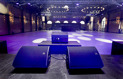 First Floor's stage monitoring is courtesy of 12 L-Acoustics X15 wedges