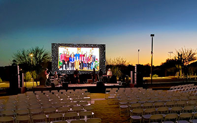 Pre-show soundcheck at the CCV's Verrado campus using A15/KS21