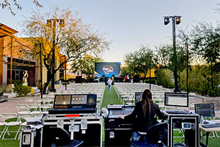 CCV's Scottsdale location used groundstacked ARCS II enclosures and SB28 subs