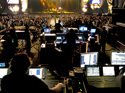 Festival FOH mixing