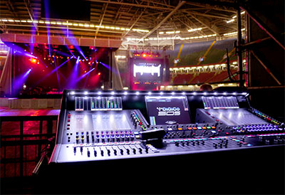 FOH at Justin Bieber's Purpose performance in Cardiff