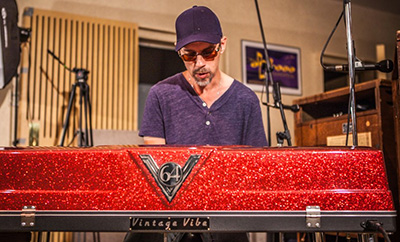 John Ginty at his Vintage Vibe Piano