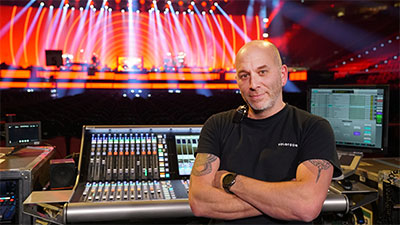 Martin Paré, Celine Dion's Monitor Engineer